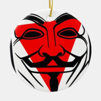 Anon Ceramic Ornament