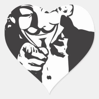 Anon le quiere pegatina en forma de corazón