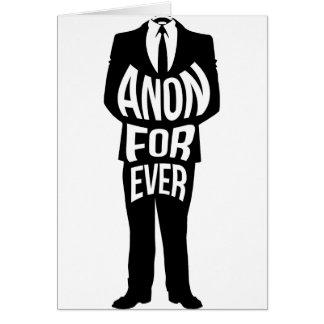 Anon para siempre tarjeta de felicitación
