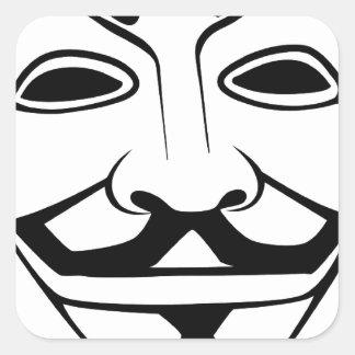 Anon Pegatina Cuadradas Personalizada