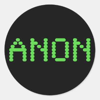 Anon preservar la libertad del Internet Pegatina Redonda