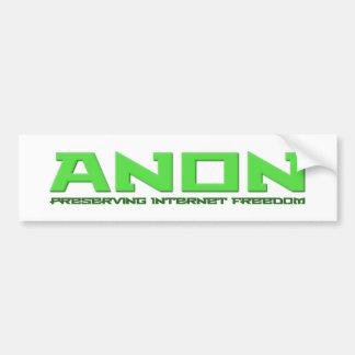 Anon Preserving Internet Freedom Bumper Sticker