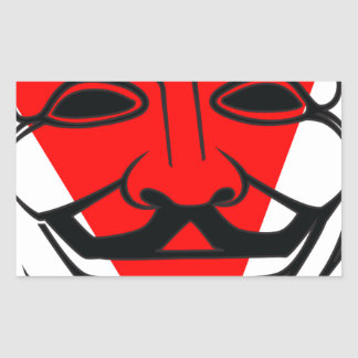 Anon Rectangular Sticker