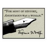 Anónima era una mujer postales