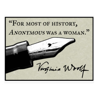 Anónima era una mujer tarjeta postal