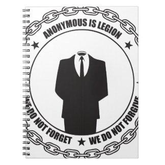 Anónima es la legión libro de apuntes