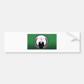 anónimo pegatina de parachoque