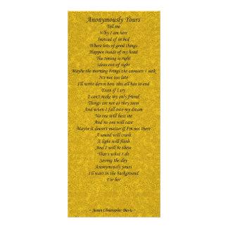 Anónimo el suyo tarjeta de la poesía - sistema de  tarjetas publicitarias personalizadas