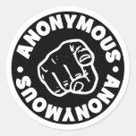 Anónimo Etiqueta Redonda