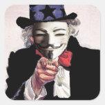 Anónimo le quiere pegatina cuadrada