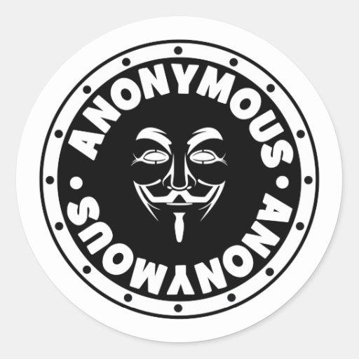 Anónimo Pegatina Redonda