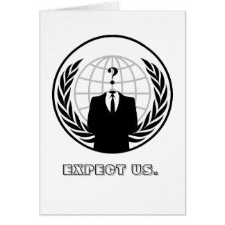 Anónimo (utilizado como un sustantivo total) es li tarjeta de felicitación