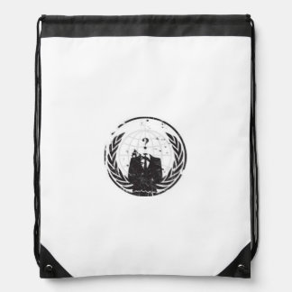 Anonymous back pocket with tie drawstring bag