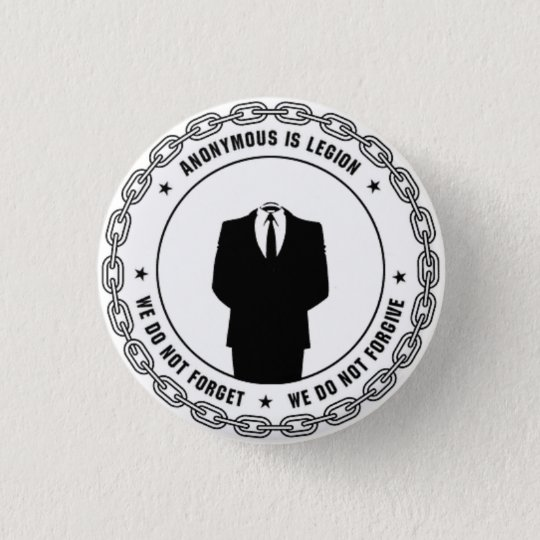 Anonymous Badge Pinback Button