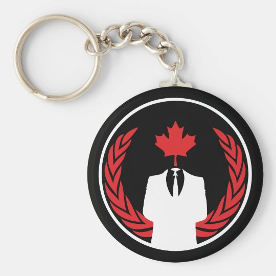 Anonymous Canada Black Keychain