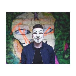 Anonymous Canvas Print
