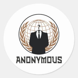 Anonymous Classic Round Sticker