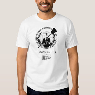 Anonymous Cleaning Service - #opACS Tee Shirt