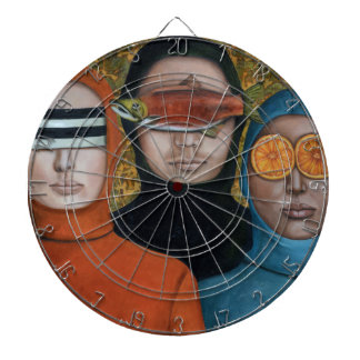 Anonymous Dartboard With Darts