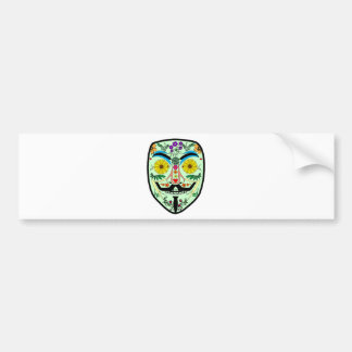 ANONYMOUS Day of the Dead 2 Art Anon Mask 4Chan Bumper Sticker