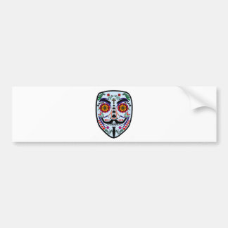 ANONYMOUS Day of the Dead 3 Art Anon Mask 4Chan Bumper Sticker