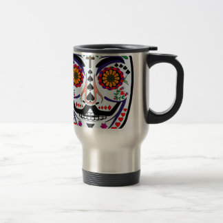 ANONYMOUS Day of the Dead 3 Art Anon Mask 4Chan Travel Mug