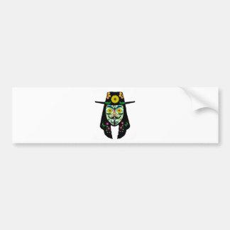 ANONYMOUS Day of the Dead 5 Anon Mask Sugar skull Bumper Sticker