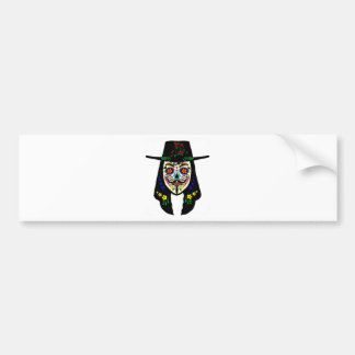 ANONYMOUS Day of the Dead 6 Anon Mask Sugar skull Bumper Sticker