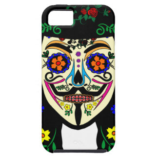 ANONYMOUS Day of the Dead 6 Anon Mask Sugar skull iPhone SE/5/5s Case