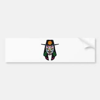 ANONYMOUS Day of the Dead 7 Anon Mask Sugar skull Bumper Sticker