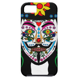 ANONYMOUS Day of the Dead 7 Anon Mask Sugar skull iPhone 5 Covers