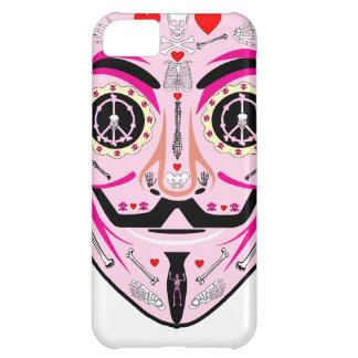 ANONYMOUS Day of the Dead Pink Art Anon Mask 4Chan iPhone 5C Cover