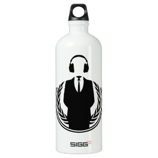 Anonymous DJ Aluminum Water Bottle