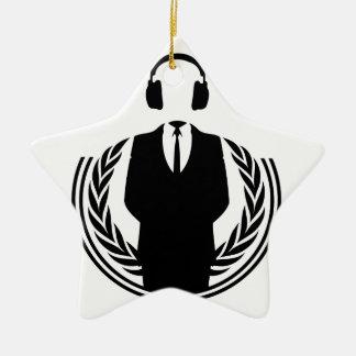 Anonymous DJ Ceramic Ornament