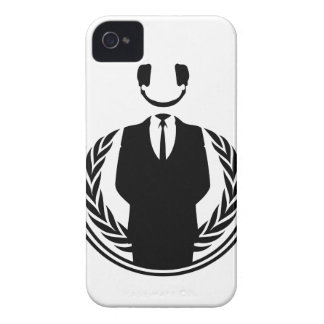 Anonymous DJ smiley Case-Mate iPhone 4 Case