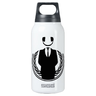 Anonymous DJ smiley Insulated Water Bottle
