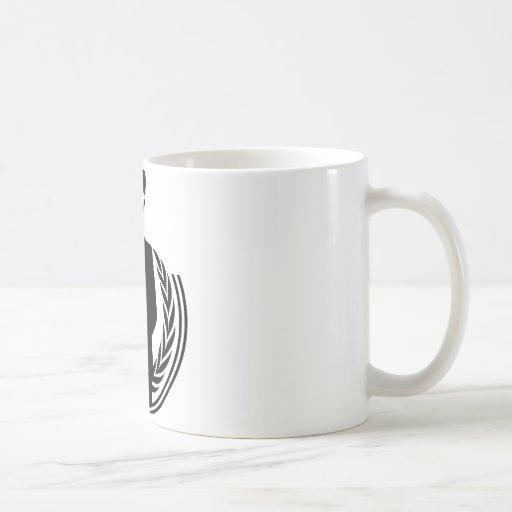 Anonymous DJ smiley Coffee Mugs