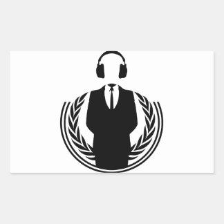 Anonymous DJ Stickers