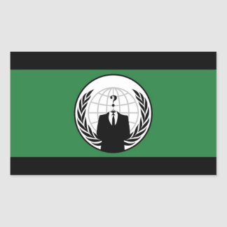 Anonymous Flag Rectangular Stickers