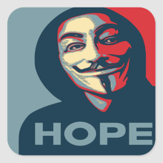 Anonymous Hope Square Sticker