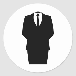 anonymous icon internet 4chan SA Classic Round Sticker