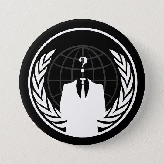 Anonymous International Black Button