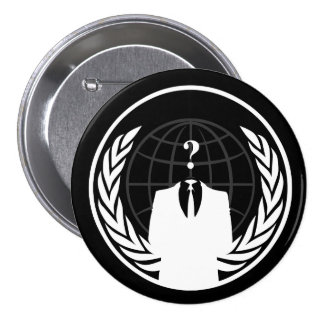 Anonymous International Black Button