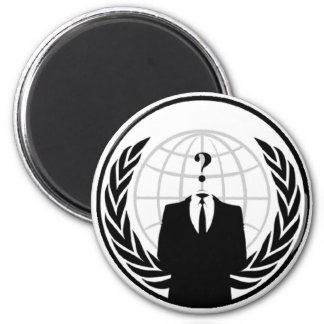 Anonymous International Logo 2 Inch Round Magnet