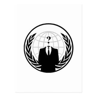 Anonymous International Logo Postcard