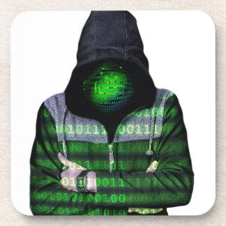 Anonymous Internet Hacker Beverage Coaster