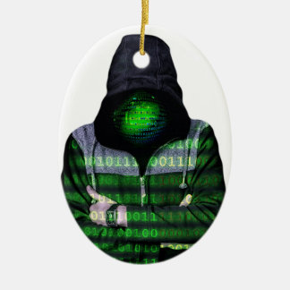 Anonymous Internet Hacker Ceramic Ornament