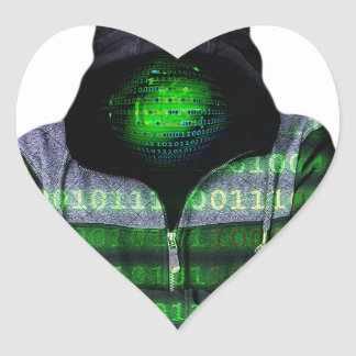 Anonymous Internet Hacker Heart Sticker