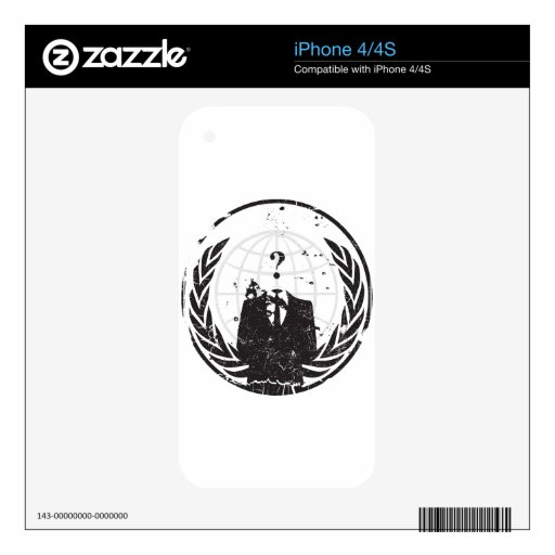 Anonymous iPhone 4S Decal
