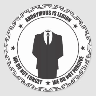 Anonymous is Legion Classic Round Sticker